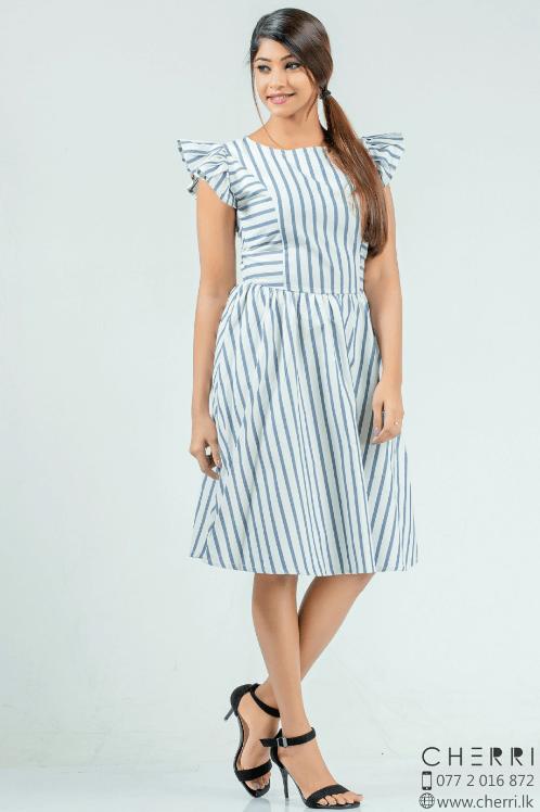 Desired Stripe skater dress