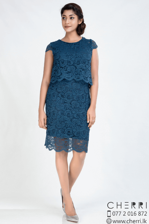Charming peacock lace dress