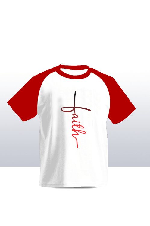 Faith raglan kids  tee