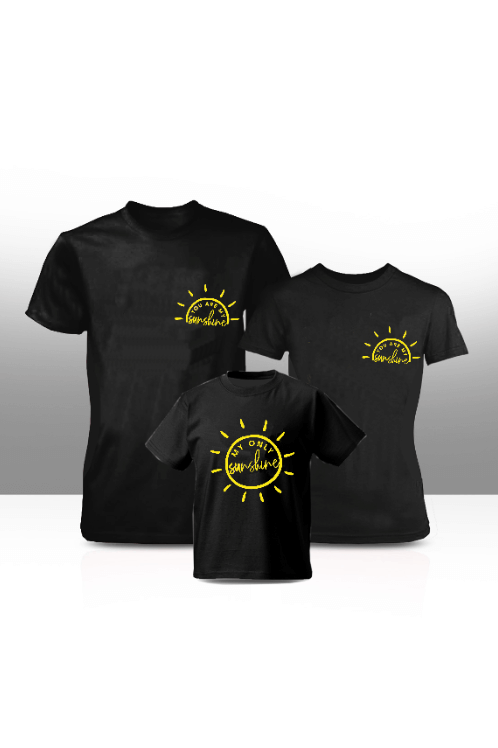 Sunshine family tees - black (adults only)