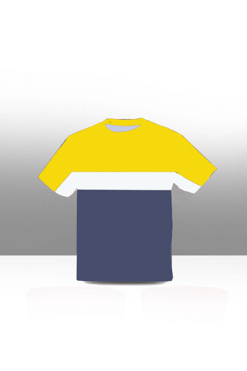 Color block kids tee- yellow , white & navy