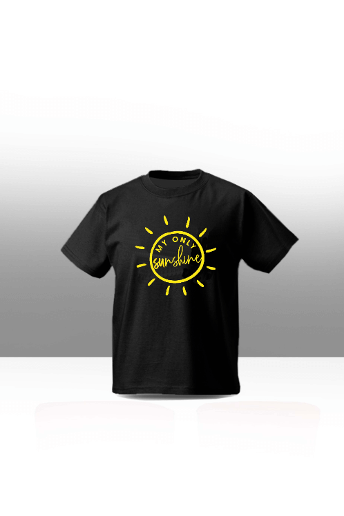 Sunshine kids tee - black