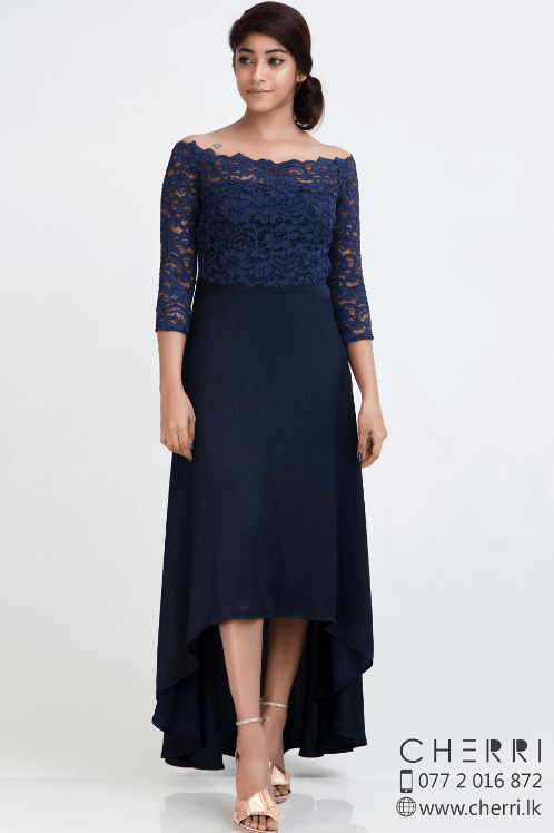 Exquisite elegance cocktail dress - navy blue