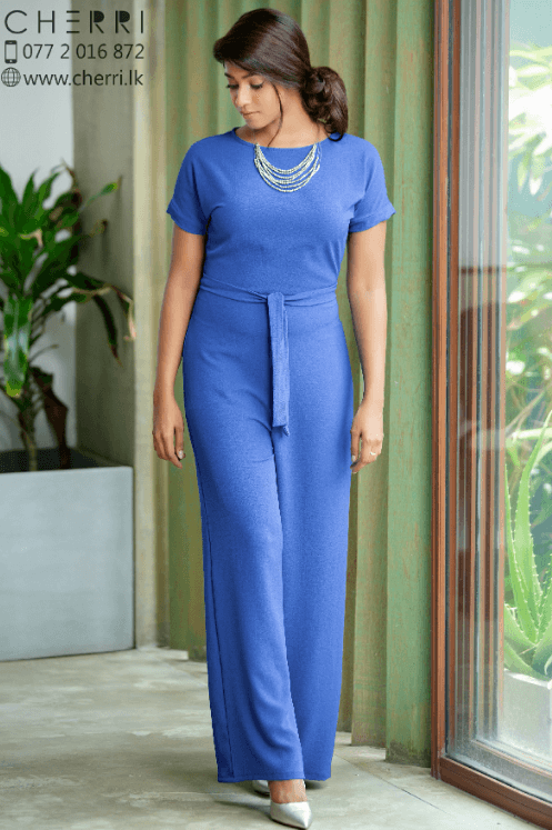 Drop shoulder Jumpsuit in royal blue