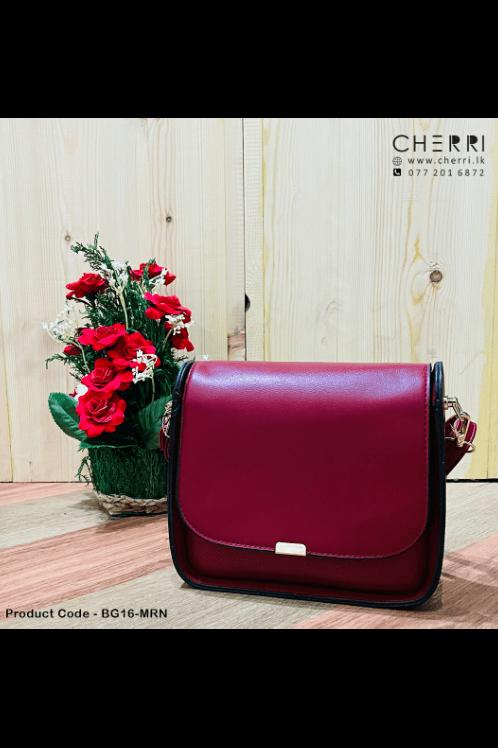 Mini Boxy Bag - Maroon