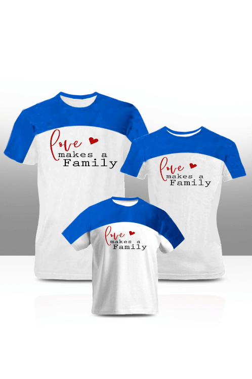 Love makes a family'' family tees (adults only)